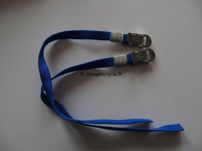 CAMPAGNOLO  blue nylon pedal toe straps NOS