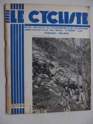 LE CYCLISTE 1938 - N°04