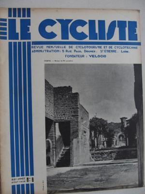LE CYCLISTE 1938 - N°08