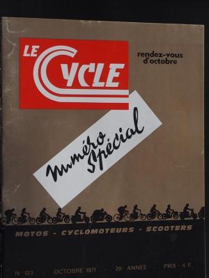LE CYCLE 1971 - 10 - N°123  Octobre 1971