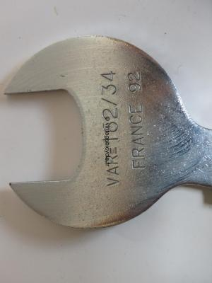 VAR #162 spanner 34mm for racing head fittings France NEW