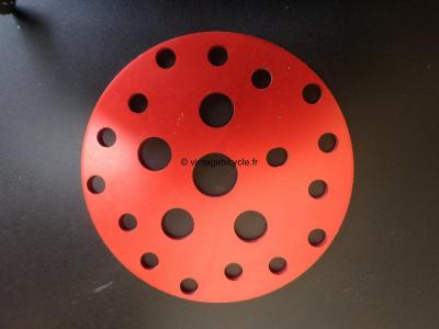 BMX SPROCKET DISC Aluminum anodised red. NOS