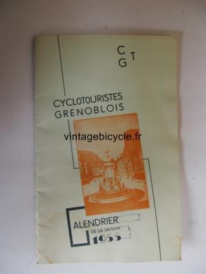 CTG CYCLOTOURISTES GRENOBLOIS CALENDRIER 1955