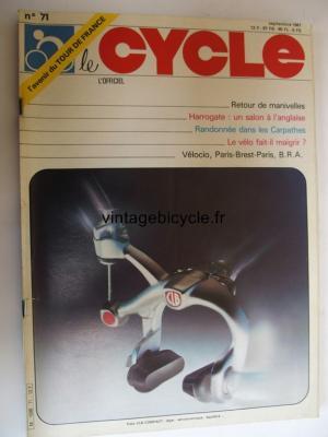 LE CYCLE l'officiel 1981 - 09 - N°71 septembre 1981