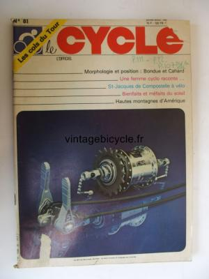 LE CYCLE l'officiel 1982 - 07 - N°81 juillet / aout 1982