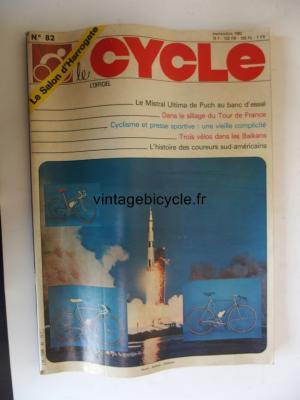 LE CYCLE l'officiel 1982 - 09 - N°82 septembre 1982