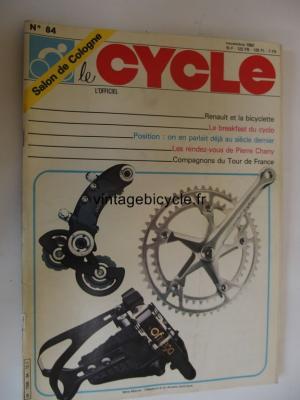 LE CYCLE l'officiel 1982 - 11 - N°84 novembre 1982