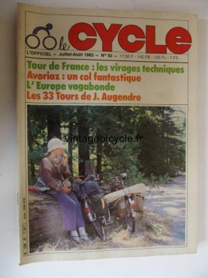 LE CYCLE l'officiel 1983 - 07 - N°92 juillet / aout1983