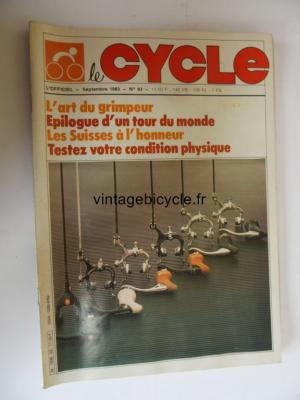 LE CYCLE l'officiel 1983 - 09 - N°93 septembre 1983