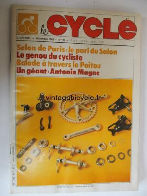 LE CYCLE l'officiel 1983 - 11 - N°95 novembre 1983