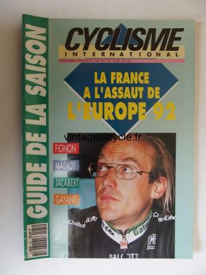 CYCLISME INTERNATIONAL 1992 - 03 - N°81 mars 1992