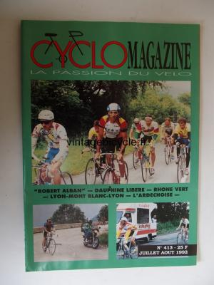 CYCLO MAGAZINE 1992 - 07 - N°413 juillet / aout 1992