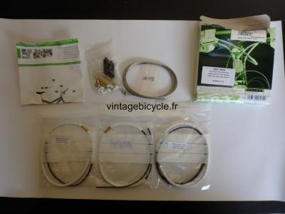 NOKON Low Friction Brake Cable System. MTB Bike Cycling Housing NOS White