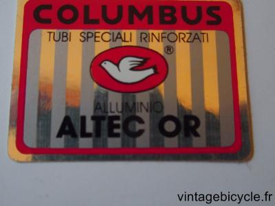 COLUMBUS ALTEC OR ORIGINAL Tubes autocollants NOS