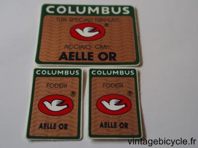 COLUMBUS AELLE OR ORIGINAL Tubes autocollants NOS