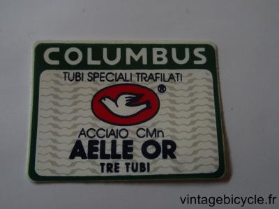 COLUMBUS AELLE OR TRE TUBI ORIGINAL Tubes autocollants NOS