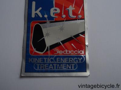 DEDACCIAI K.E.T. ORIGINAL Tubes autocollants NOS