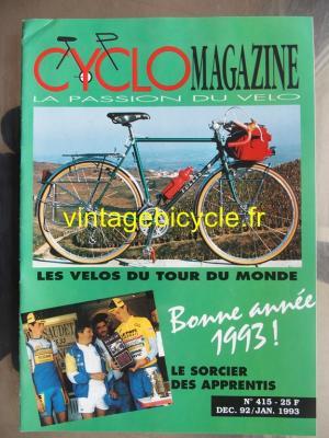 CYCLO MAGAZINE 1992 - 12 - N°415 decembre 1992 : janvier 1993