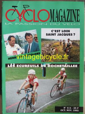 CYCLO MAGAZINE 1992 - 10 - N°414 octobre / novembre 1992