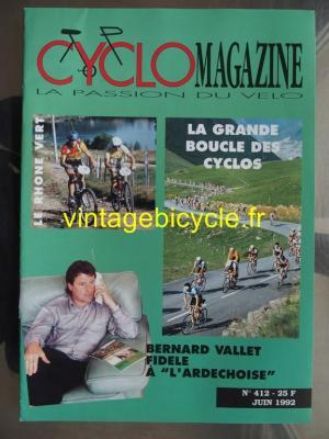 CYCLO MAGAZINE 1992 - 06 - N°412 juin 1992
