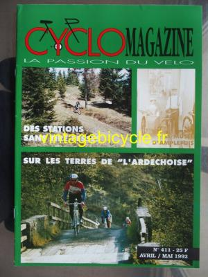 CYCLO MAGAZINE 1992 - 04 - N°411 avril / mai 1992