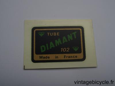 DIAMANT 102 ORIGINAL Tubes autocollants NOS