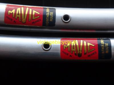 MAVIC Monthelery Route 32h silver tubular rims 700c Vintage NOS / New set (2)