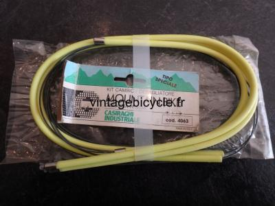 CASIRAGHI Corsa Hi Tech MTB Bicycle Derailleur Cables & Housing NOS fluorescent yellow