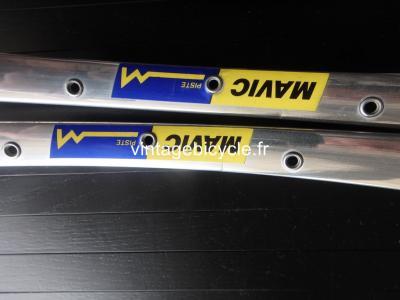 MAVIC PISTE 32h silver tubular track rims 700c Vintage NOS / New set (2)