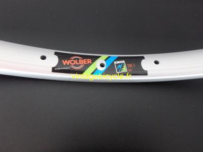 """WOLBER TR1 TUBULAR MTB Rim 26"""" Alloy silver doublewall 36h. NOS (1)"""