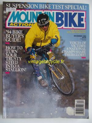 MOUNTAIN BIKE ACTION 1993 - 12 - N° 12 decembre 1993