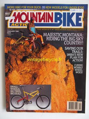 MOUNTAIN BIKE ACTION 1994 - 02 - N° 2 fevrier 1994