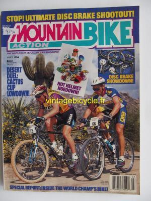 MOUNTAIN BIKE ACTION 1994 - 07 - N° 7 juillet 1994