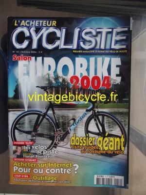 L'ACHETEUR CYCLISTE 2004 - 10 - N°16 octobre 2004