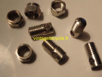 MUDGUARD eyelet bolts and nuts for fitting mudguards type Bluemels. NOS (set of 4)