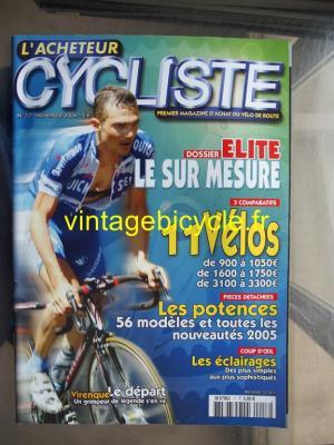 L'ACHETEUR CYCLISTE 2004 - 11 - N°17 novembre 2004