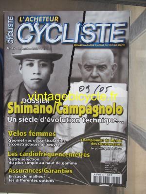 L'ACHETEUR CYCLISTE 2005 - 09 - N°25 septembre 2005