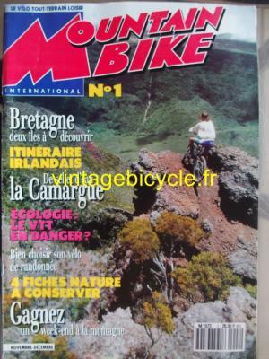 MOUNTAIN BIKE INTERNATIONAL 1990 - 11 - N°1 novembre / decembre 1990