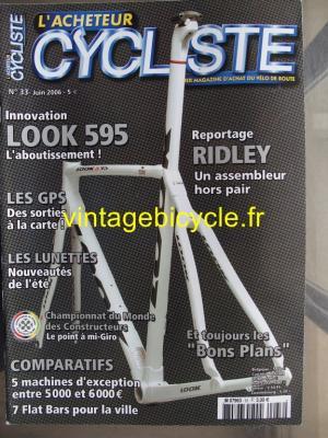 L'ACHETEUR CYCLISTE 2006 - 06 - N°33 juin 2006