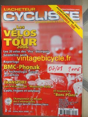 L'ACHETEUR CYCLISTE 2006 - 07 - N°34 juillet / aout 2006