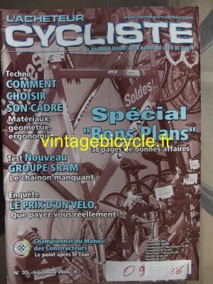 L'ACHETEUR CYCLISTE 2006 - 09 - N°35 septembre 2006