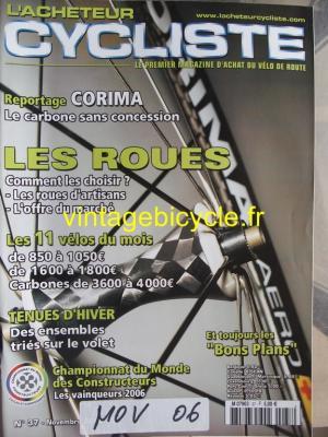 L'ACHETEUR CYCLISTE 2006 - 11 - N°37 novembre 2006