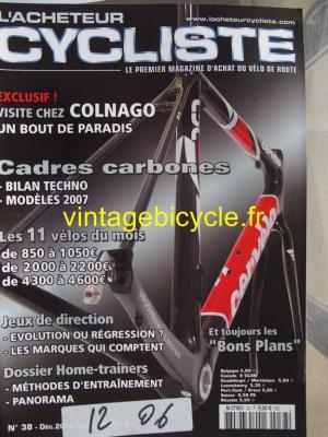 L'ACHETEUR CYCLISTE 2006 - 12 - N°38 decembre 2006