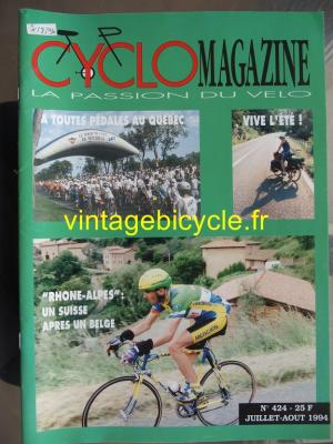 CYCLO MAGAZINE 1994 - 07 - N°424 juillet / aout 1994