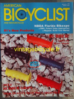 AMERICAN BICYCLIST - 1981 - 01 - N°1 janvier 1981