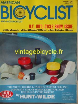 AMERICAN BICYCLIST - 1981 - 02 - N°2 fevrier 1981