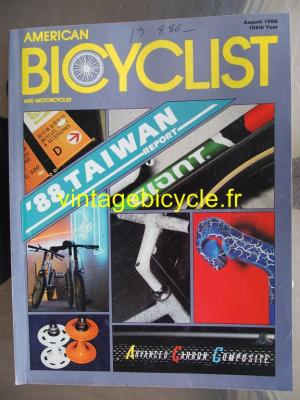 AMERICAN BICYCLIST - 1988 - 08 - N°8/109 AOUT 1988