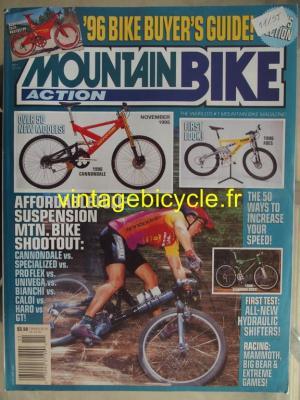 MOUNTAIN BIKE ACTION 1995 - 01 - N° 11 novembre 1995