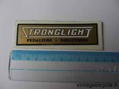 STRONGLIGHT PEDALIER - DIRECTIONS STICKER NOS