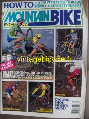 MOUNTAIN BIKE ACTION 1992 - 04 - N° 4 avril 1992